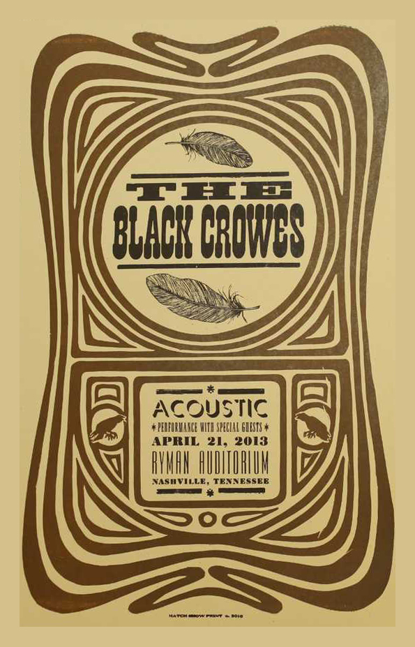 2013 04 21   sun black crowes nashville TN ryman acoustic EDITED 01